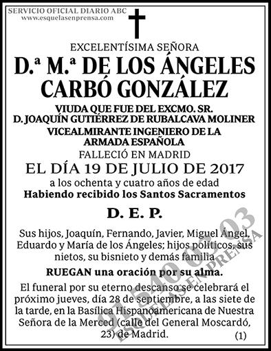 M.ª de los Ángeles Carbó González